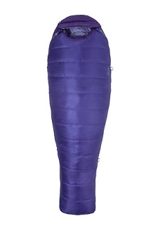 Women's Ouray 0° Sleeping Bag - Long, Electric Purple/Royal Grape, medium