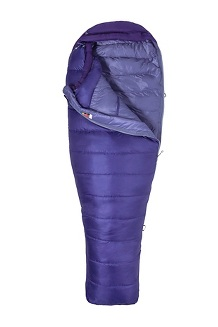 Women's Ouray 0° Sleeping Bag - Long, Electric Purple/Royal Grape, medium