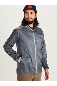 Men's Trail Wind Hoody, Steel Onyx, medium
