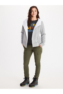 Women's Denare Insulated Hoody, Bright Steel Heather/White, medium