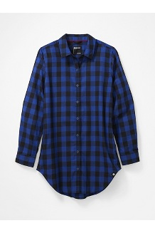 Women's Nicolet Lightweight Long-Sleeve Flannel Shirt, Royal Night, medium