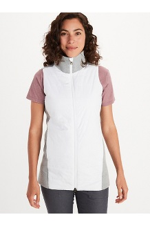Women's Denare Insulated Vest, Bright Steel Heather/White, medium
