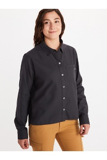 Women's Barrie Lightweight Long-Sleeve Flannel Shirt, Dark Steel, medium