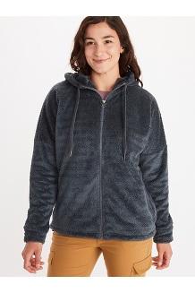 Women's Avens Fleece Hoody, Steel Onyx, medium