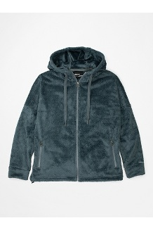 Women's Avens Fleece Hoody, Steel Onyx, medium