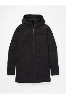 Women's Rowan Full-Zip Tunic, Black, medium