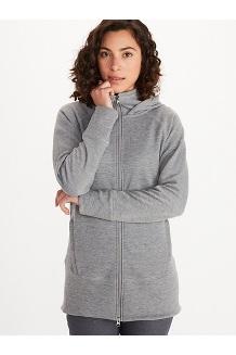 Women's Rowan Full-Zip Tunic, Sleet Heather, medium