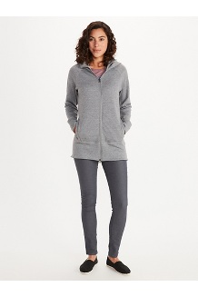 Women's Rowan Full-Zip Tunic, Sleet Heather, medium