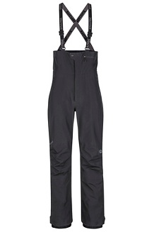 Men's Spire Bib Snow Pants, Black, medium