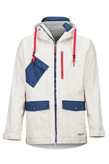Men's Ashbury PreCip Eco Jacket, Gray Moon/Arctic Navy, medium