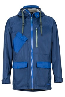 Men's Ashbury PreCip Eco Jacket, Arctic Navy/Surf, medium