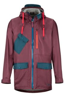 Ashbury PreCip Jacket, Burgundy/Denim, medium