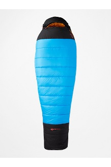 WarmCube Expedition Sleeping Bag - Long, Clear Blue/Black, medium