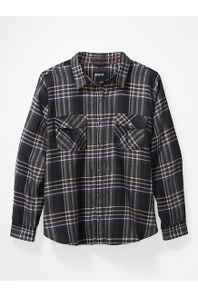 Women's Bridget Long-Sleeve Flannel Shirt Plus, Black, medium