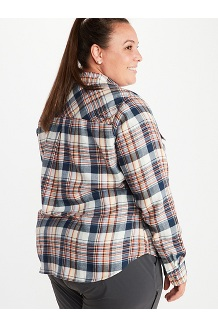 Women's Bridget Long-Sleeve Flannel Shirt Plus, Dark Indigo, medium