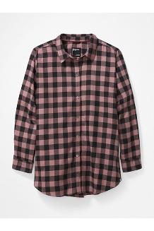 Women's Nicolet Lightweight Long-Sleeve Flannel Shirt Plus, Black, medium