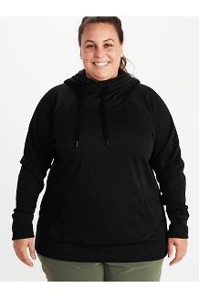Women's Rowan Hoody Plus, Black, medium