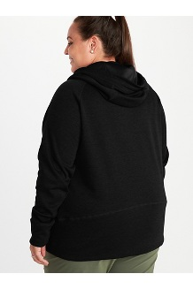 Women's Rowan Hoody Plus, Black, medium