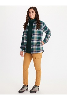 Women's Ridgefield Sherpa-Lined Long-Sleeve Flannel Shirt, Botanical Garden, medium
