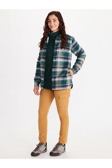 Women's Ridgefield Sherpa-Lined Long-Sleeve Flannel Shirt, Botanical Garden, medium