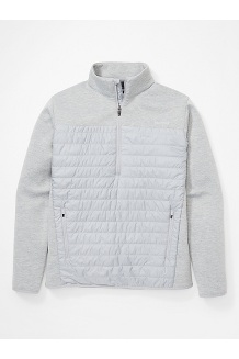 Men's Norquay ½-Zip Pullover, Sleet, medium