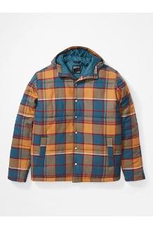 Men's Lanigan Insulated Long-Sleeve Flannel Hoody, Stargazer, medium