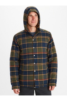 Men's Lanigan Insulated Long-Sleeve Flannel Hoody, Nori, medium