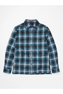 Men's Movatn Heavyweight Long-Sleeve Flannel Shirt, Stargazer, medium