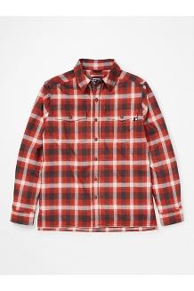 Men's Movatn Heavyweight Long-Sleeve Flannel Shirt, Picante, medium