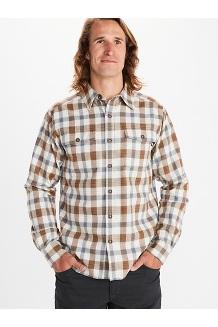 Men's Movatn Heavyweight Long-Sleeve Flannel Shirt, Papyrus, medium
