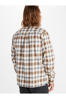 Men's Movatn Heavyweight Long-Sleeve Flannel Shirt, Steel Onyx, medium