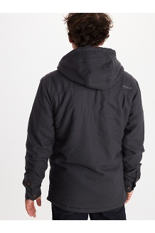 Men's Ridgefield Sherpa-Lined Flannel Hoody, Dark Steel, medium