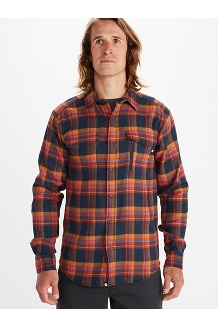 Men's Tromso Midweight Long-Sleeve Flannel Shirt, Dark Indigo, medium