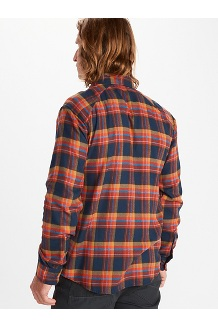 Men's Tromso Midweight Long-Sleeve Flannel Shirt, Black, medium