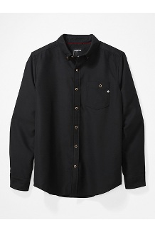 Men's Aylesbury Long-Sleeve Shirt, Black, medium