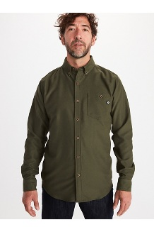 Men's Aylesbury Long-Sleeve Shirt, Nori, medium