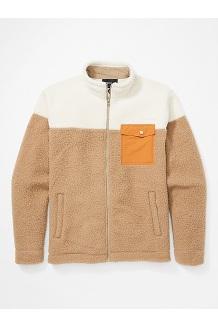 Men's Aros Fleece Jacket, Desert Khaki/Oatmeal/Scotch, medium