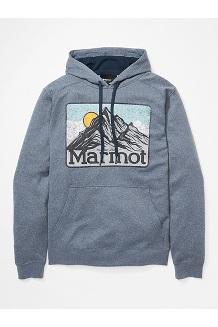 Men's Mountain Peaks Hoody, Dark Indigo Heather, medium