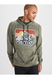 Men's Mountain Peaks Hoody, Nori Heather, medium