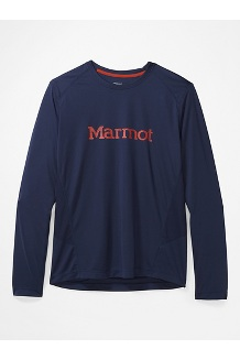 Men's Windridge Graphic Long-Sleeve Shirt, Arctic Navy/Picante, medium