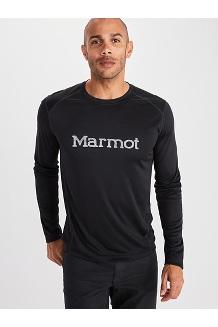 Men's Windridge Graphic Long-Sleeve Shirt, Black/Sleet, medium