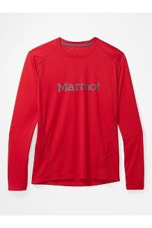 Men's Windridge Graphic Long-Sleeve Shirt, Team Red/Steel Onyx, medium