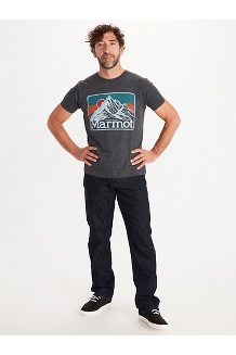 Men's Mountain Peaks Short-Sleeve T-Shirt, Charcoal Heather, medium