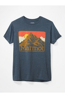 Men's Mountain Peaks Short-Sleeve T-Shirt, Navy Heather, medium