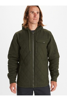 Men's Mt. Rose Insulated Flannel Hoody, Nori, medium