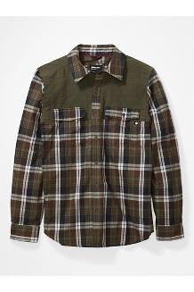 Men's Needle Peak Midweight Flannel Shirt, Crocodile/Nori, medium