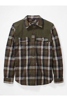Men's Needle Peak Midweight Flannel Shirt, Crocodile/Nori, medium