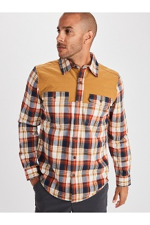 Men's Needle Peak Midweight Flannel Shirt, Scotch, medium