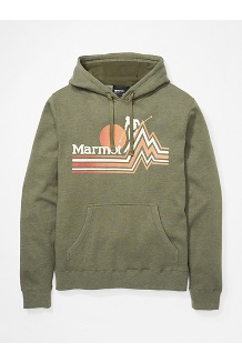 Men's Piste Hoody, Nori Heather, medium