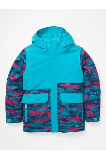Kids' Barbeau Jacket, Enamel Blue/Arctic Navy Haze Camo, medium